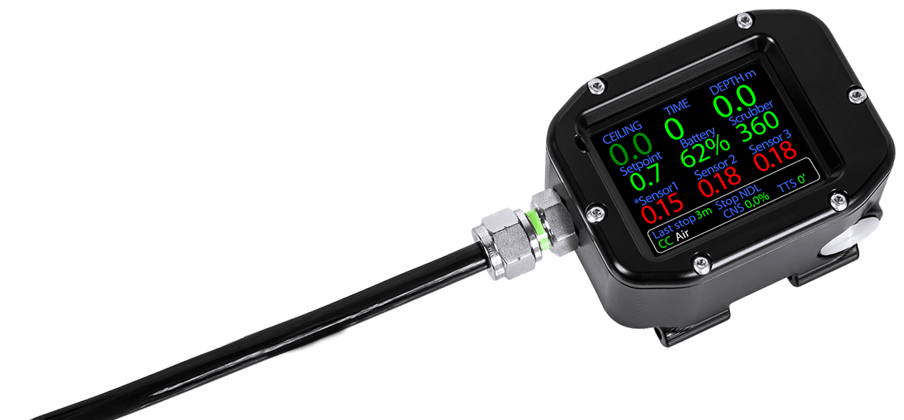 Electronic controller fo Close Circuit Rebreather